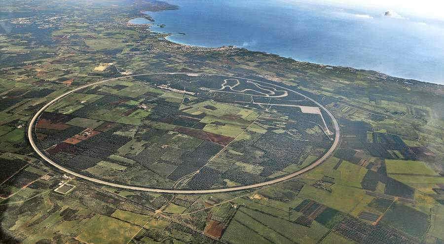 Circuito Nardò Puglia vista aerea
