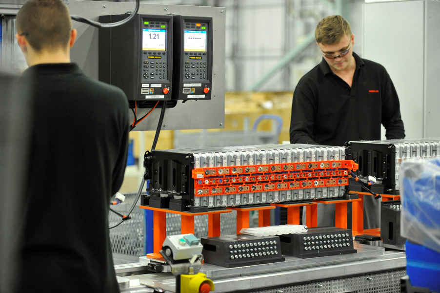 Fabbrica Nissan di Sunderland per batterie di auto elettriche