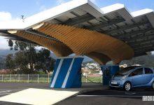 Stazione di ricarica auto elettriche ad energia solare