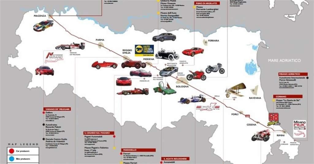 Motor Valley-mappa