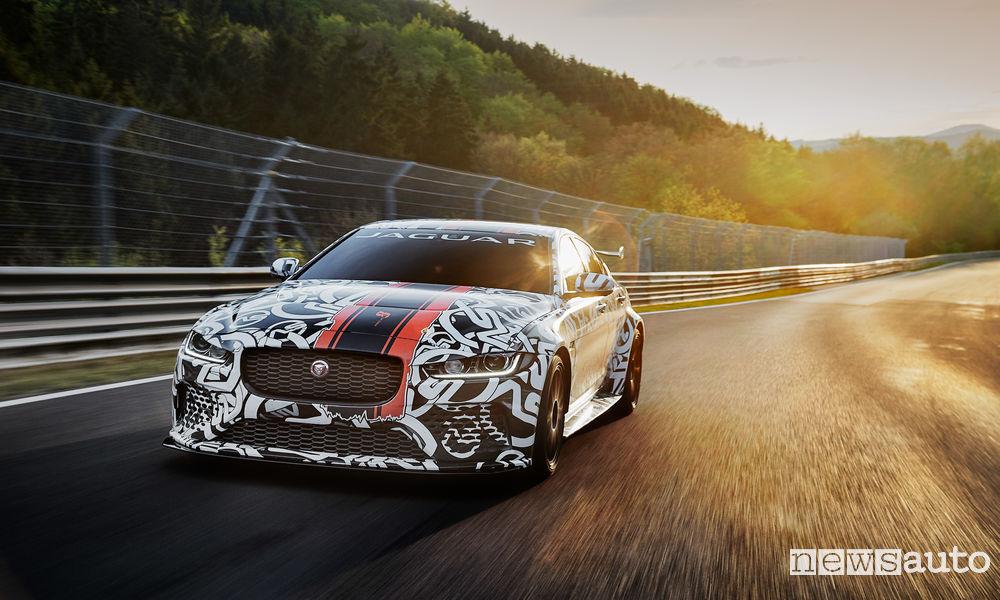 Jaguar XE SV Project 8 prototype testing Nurburgring