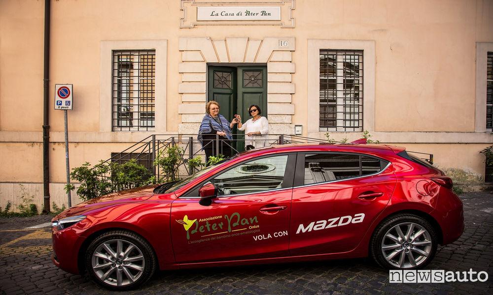 Photo of Una Mazda3 Donata All'associazione Peter Pan di Roma