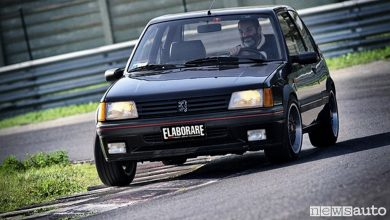 Photo of Peugeot 205 GTi Gutmann la prova in pista