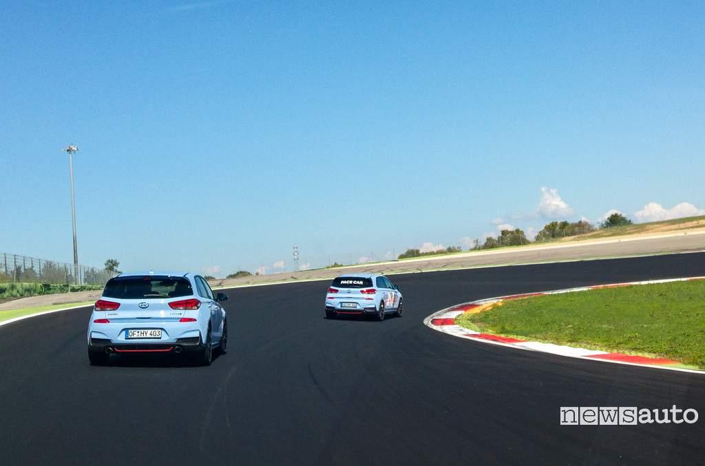 Hyundai i30 N in pista a Vallelunga