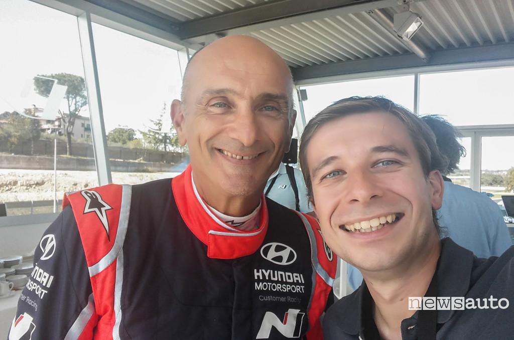 Marco Paternostro con Gabriele Tarquini