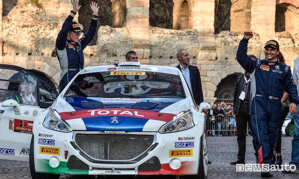 Peugeot e Andreucci Campioni Italiani Rally Peugeot Titolo Costruttori nel CIR 2017