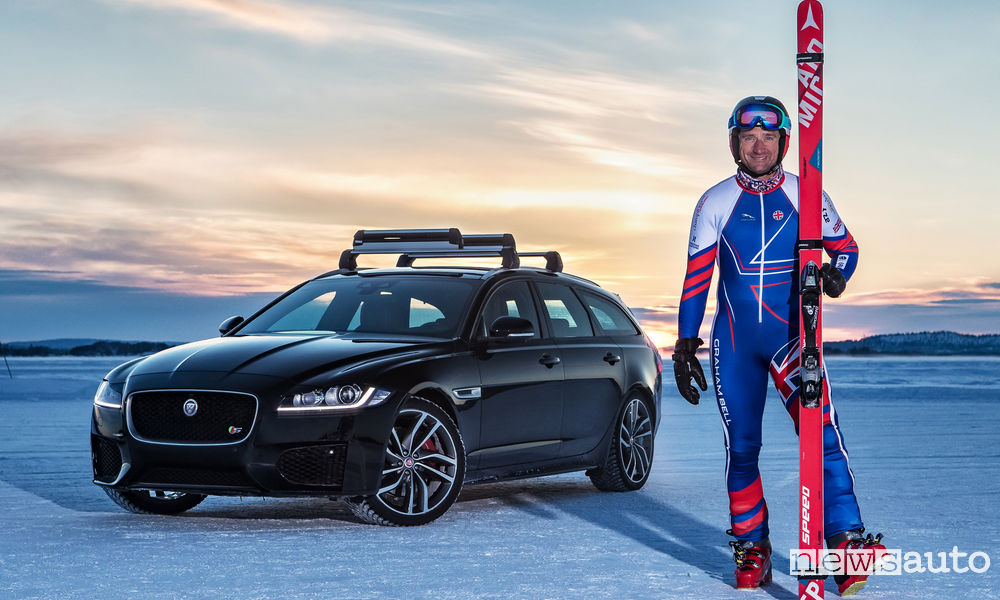 Jaguar XF Sportbrake e Graham Bell Guinness World Records