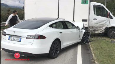 Tesla incidente con l'auto elettrica