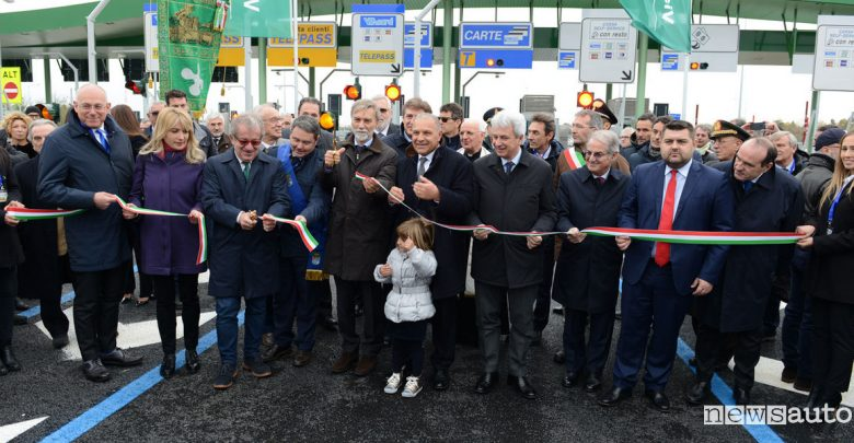 Autostrada del Brebemi inaugurazione Brescia