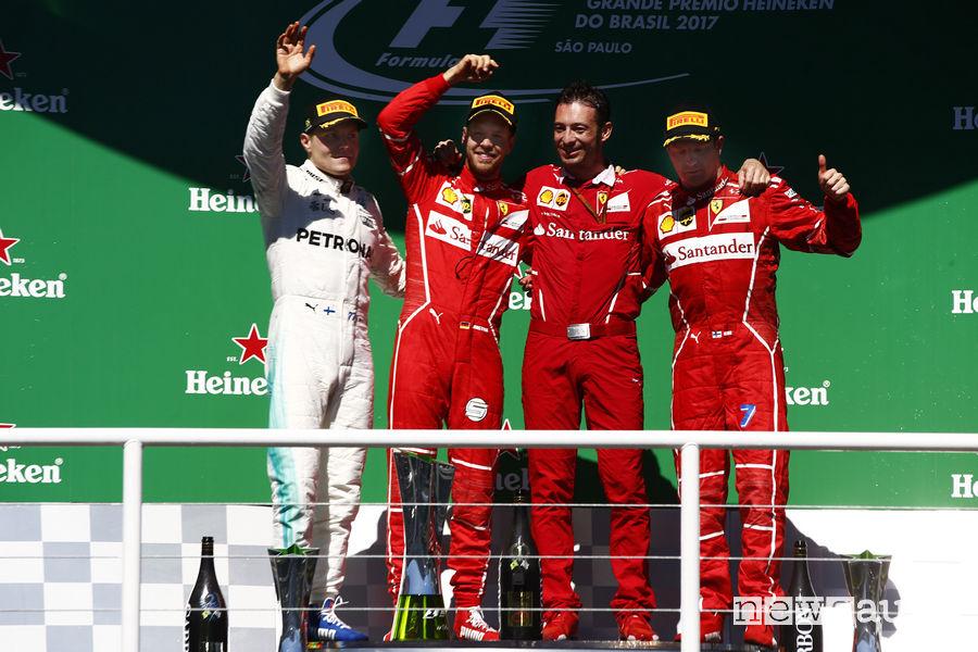 Gp Brasile F1 2017 Vettel podio