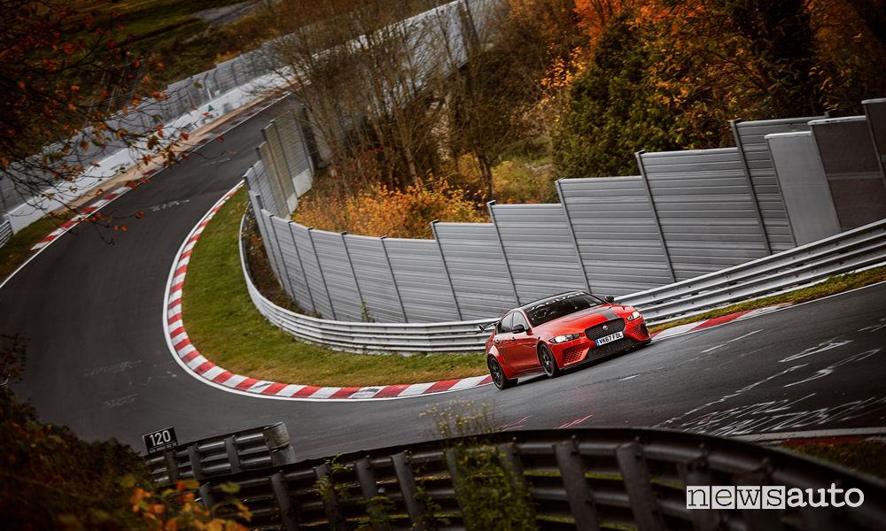 Jaguar XE record Nurburgring