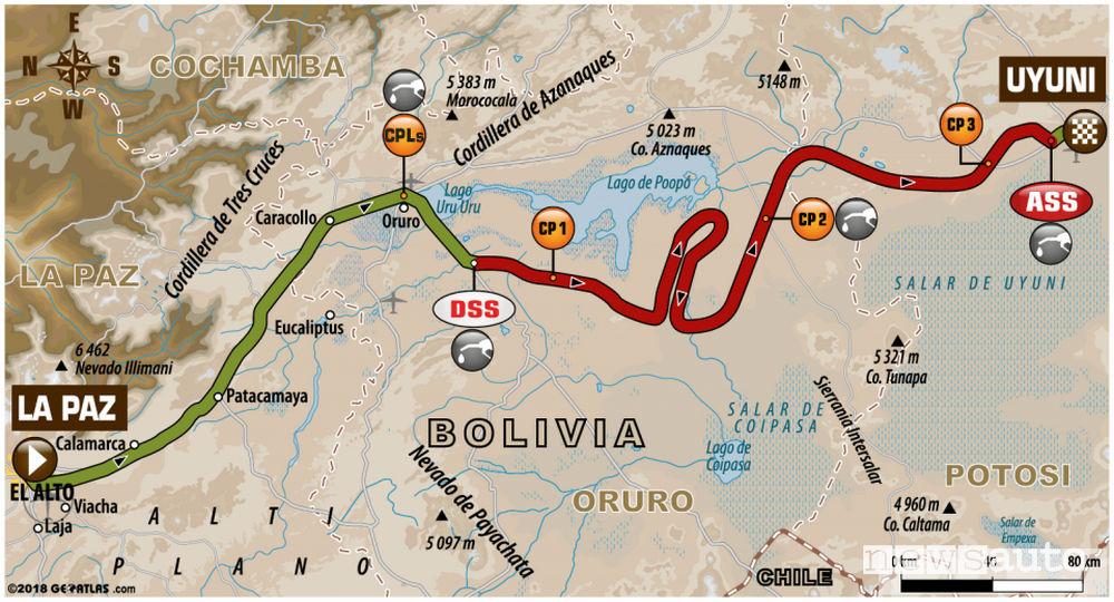 Dakar 2018 7^ tappa mappa
