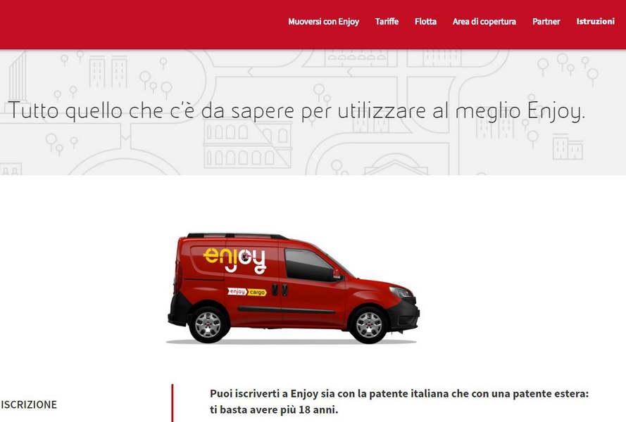 noleggio furgoni a Roma Milano Torino Enjoy Cargo