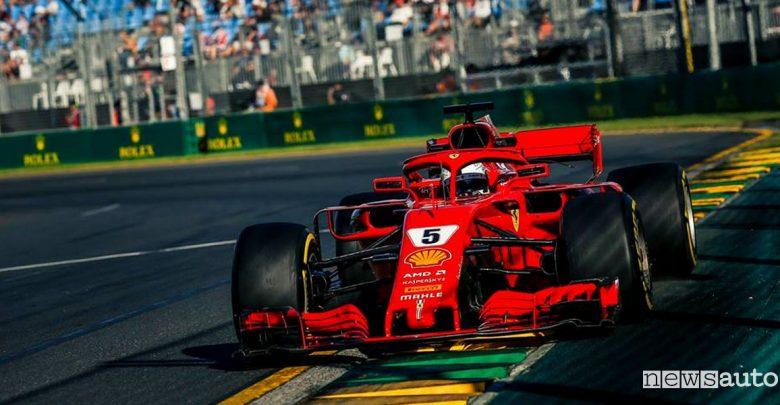 F1 2018 classifiche gara Australia Ferrari Vettel