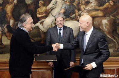 Marchionne Gentiloni De Scalzi FIAT ENI