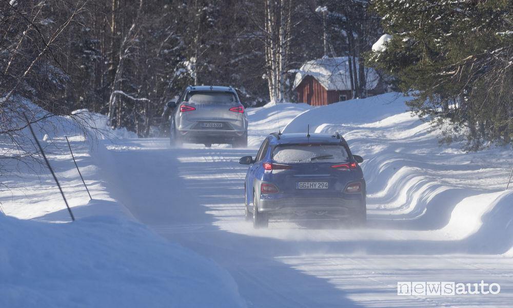 Test auto elettriche Hyundai in condizioni estreme