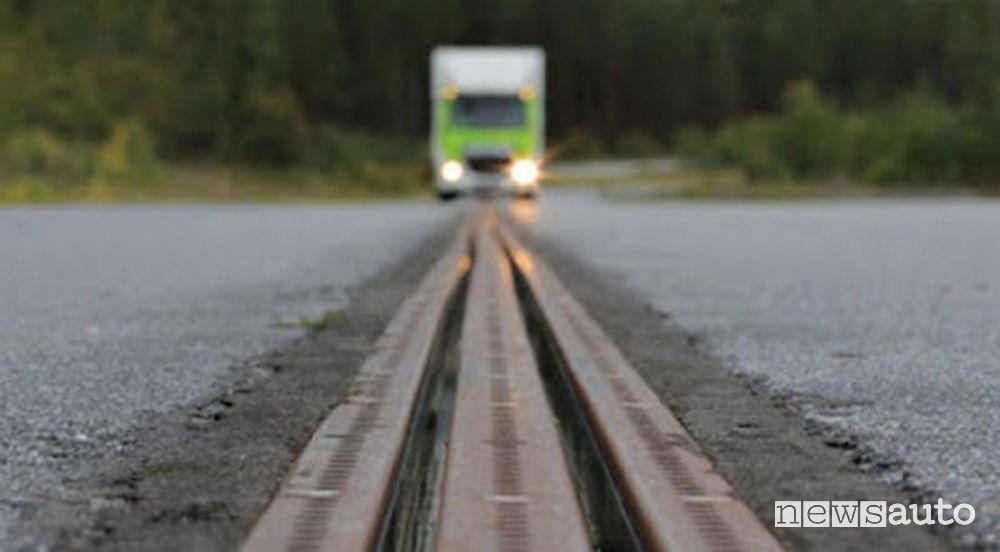 Strada intelligente eRoad Arlanda Svezia
