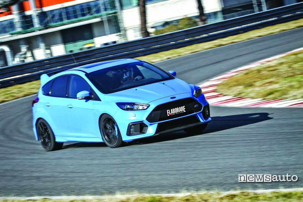 Ford Focus RS 350 CV la prova in pista