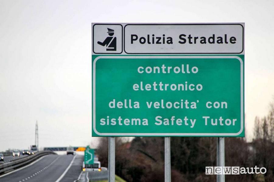 Tutor spenti in autostrada