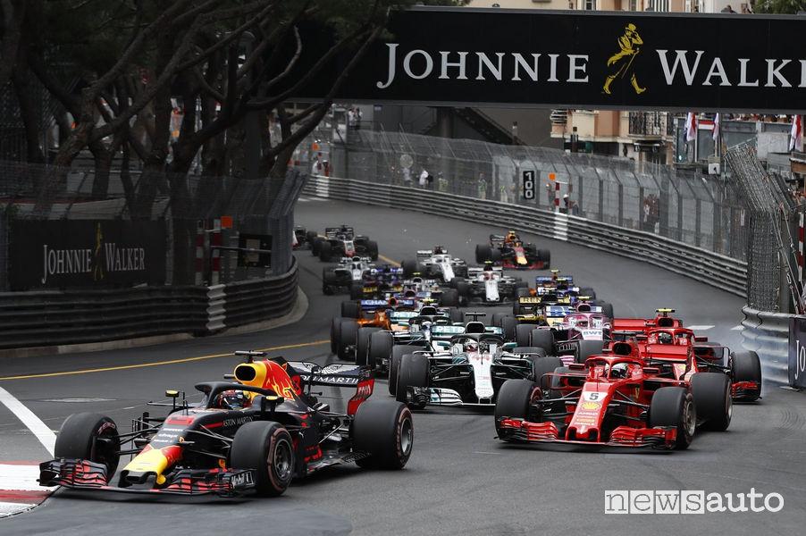 F1 2018 partenza Gp Montecarlo