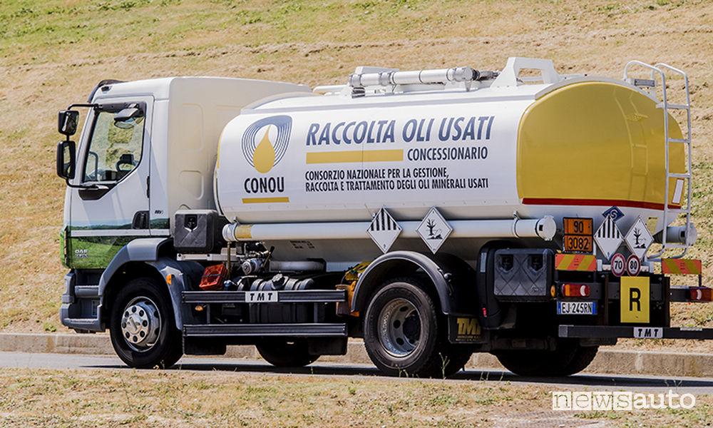 Olio lubrificante usato CONAU Conzorzio oli usati