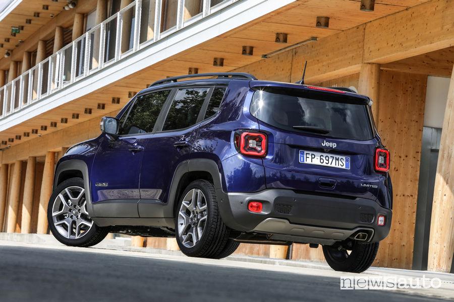 Nuova Jeep Renegade 2019 vista posteriore
