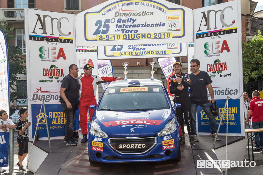 Rally del Taro 2018 Peugeot Competition Rally 208
