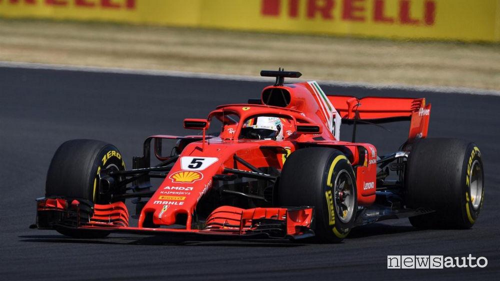 F1 2018 gara Gran Bretagna Ferrari Vettel