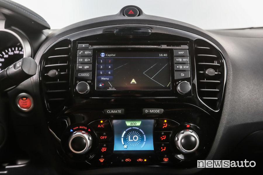Nissan Juke MY18 touch screen e comandi clima