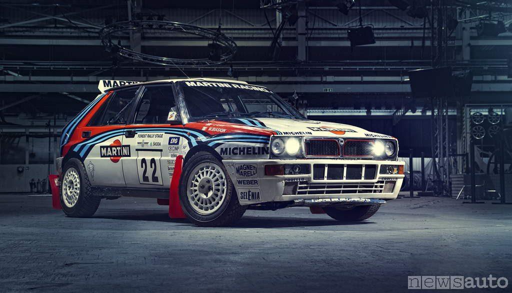auto storiche da corsa Lancia Delta Integrale da Rally