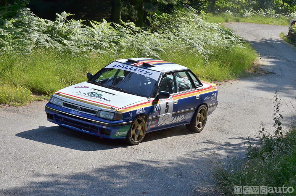 auto storiche da corsa Subaru Legacy rally