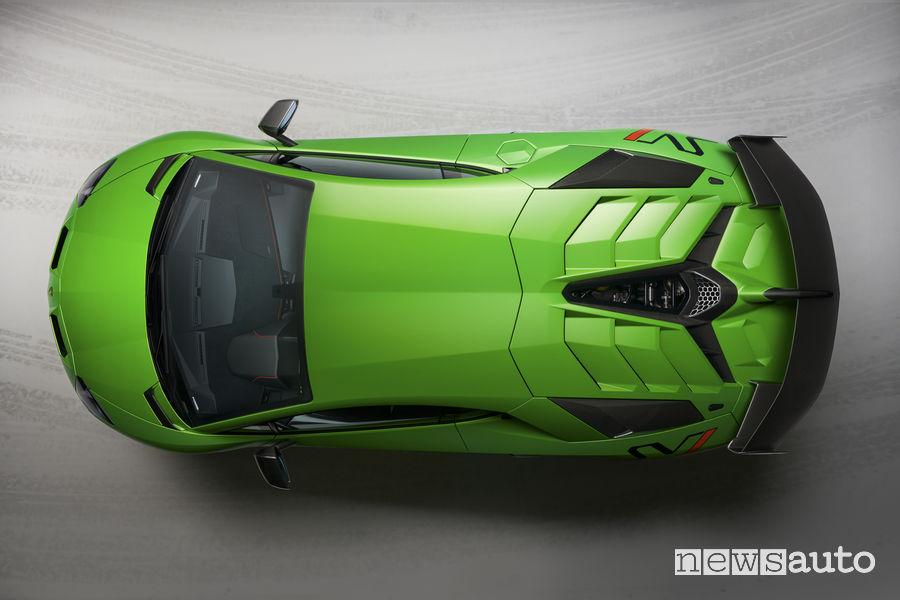 Lamborghini_Aventador SVJ vista dall'alto