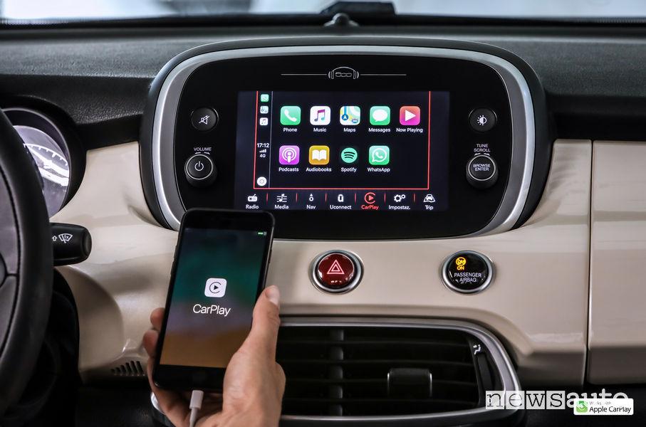 Nuova Fiat_500X 2019, Apple Car Play