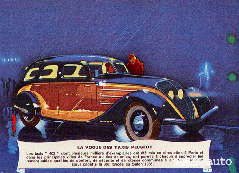 Primo motore diesel Peugeot su taxi