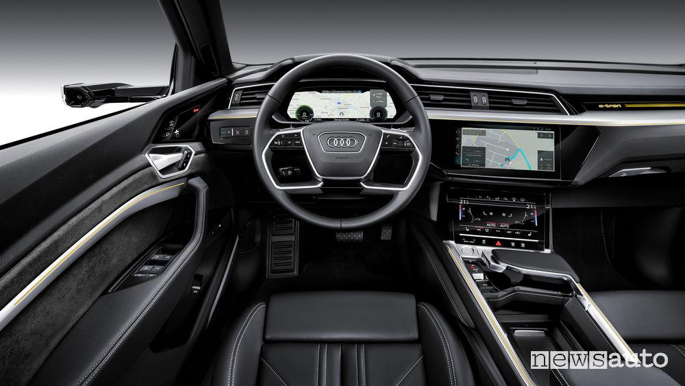 Audi e-tron, plancia strumenti