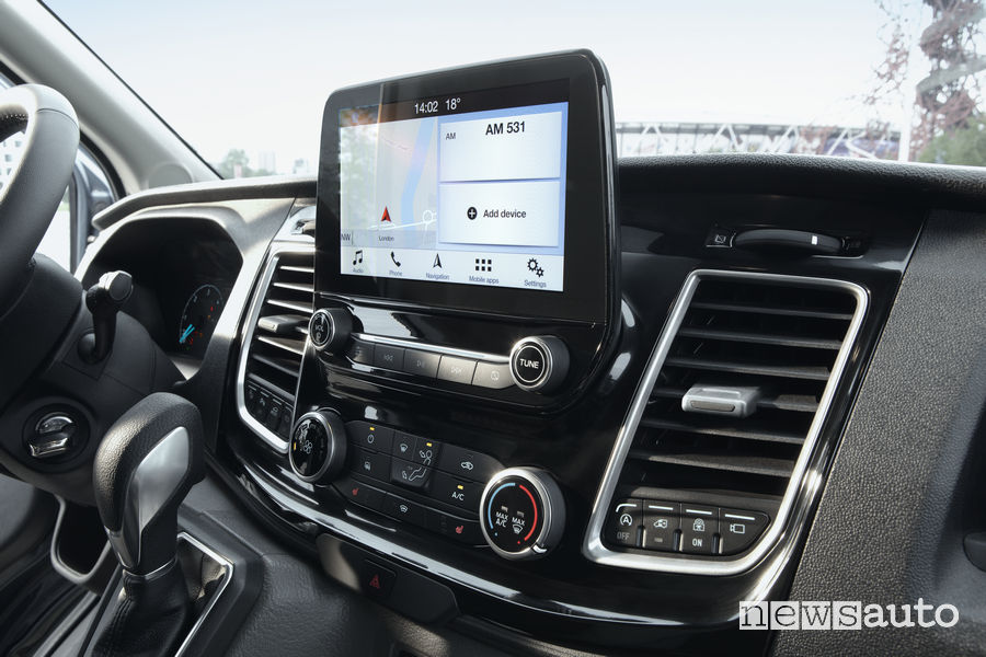 """Nuovo Ford_Transit 2019, SYC 3 touchscreen 8"""""""