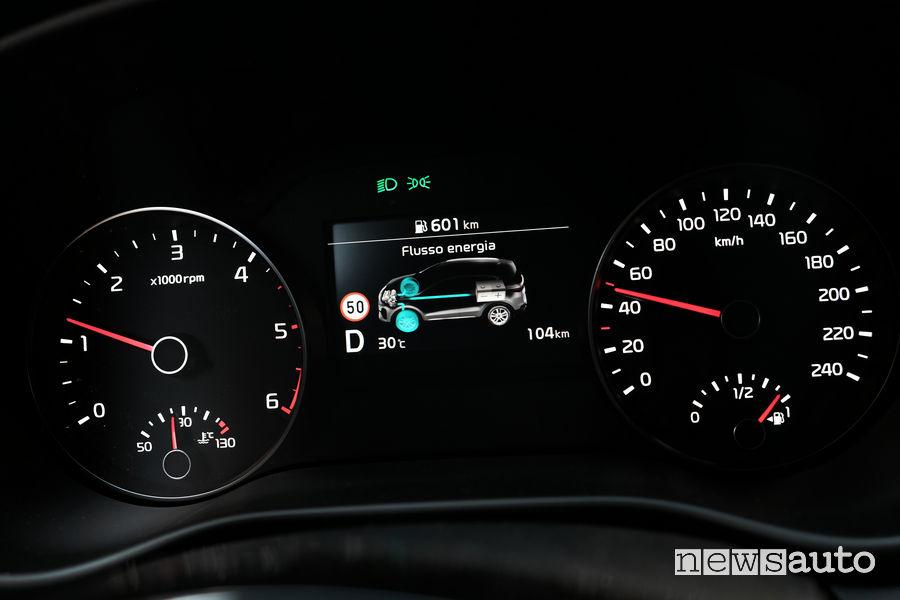 Kia_Sportage 2019 GT Line, info sistema Mild-Hybrid 48 V sul quadro strumenti