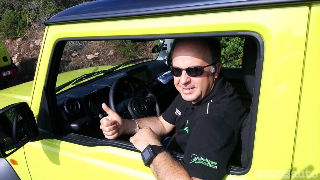 Giovanni Mancini alla guida del Suzuki Jimny 2019