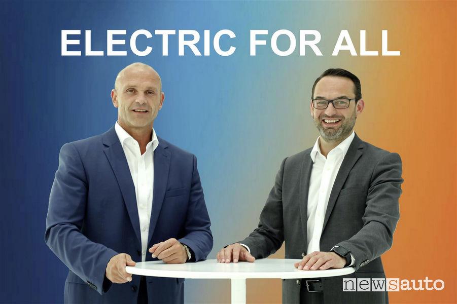 Thomas Ulbrich a sx (Resp mobilità elettrica VW) e Christian Senger a dx (Resp gamma elettrica VW)