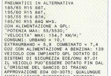 carta di circolazione terzo quadrante classe ambientale auto