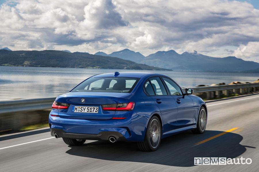 BMW_Serie 3 Berlina 2019 M Sport, vista posteriore