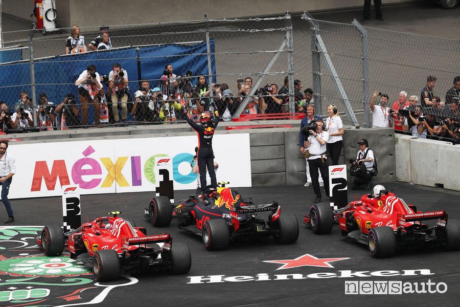 F1 2018 podio Gp Messico
