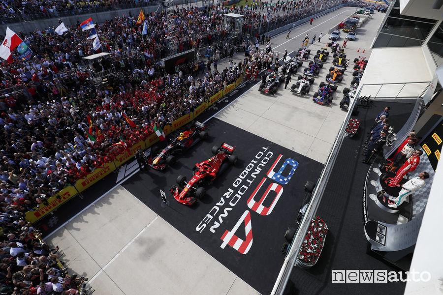 F1 2018 Gp Stati Uniti, festa del podio