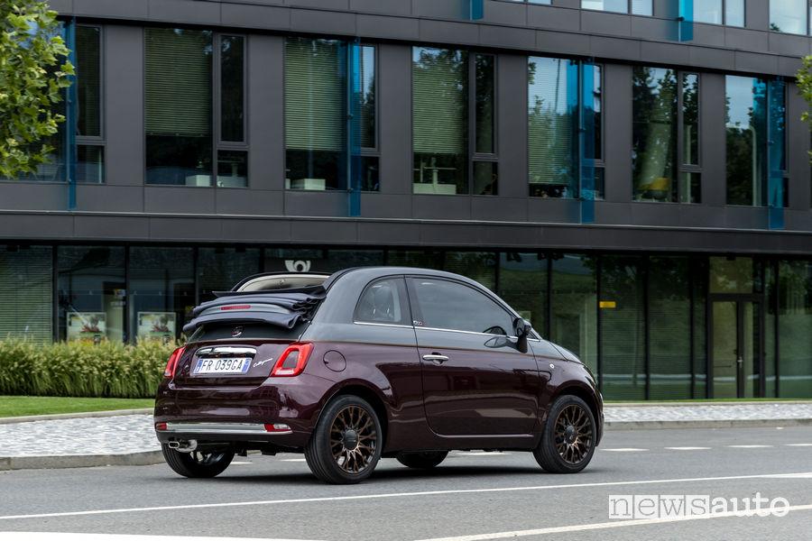 Fiat_500 Collezione cabrio, vista laterale