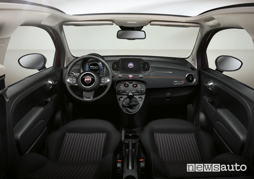Fiat_500 Collezione, plancia strumenti