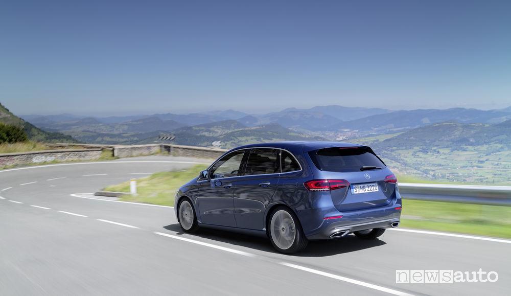 Mercedes-Benz Classe B 2019 blue, vista posteriore