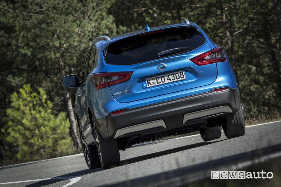 Nissan_Qashqai 2019 blue, vista posteriore