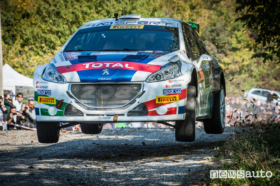 Andreucci (Peugeot 208T16) al Rally_Due_Valli 2018