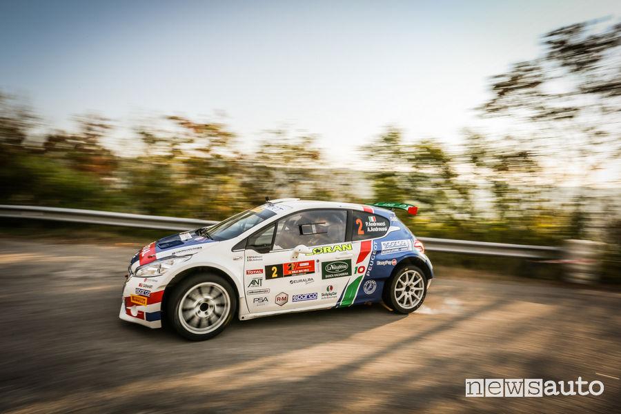 Andreucci (Peugeot 208T16) al Rally_Due_Valli 2018