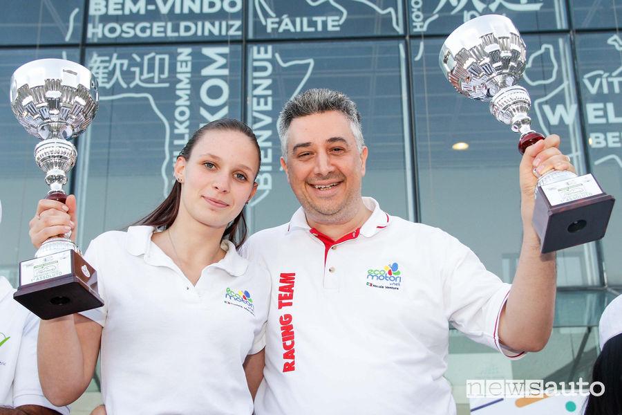 Nicola Ventura e Daniela Marchisio Renault Zoe Green Endurance